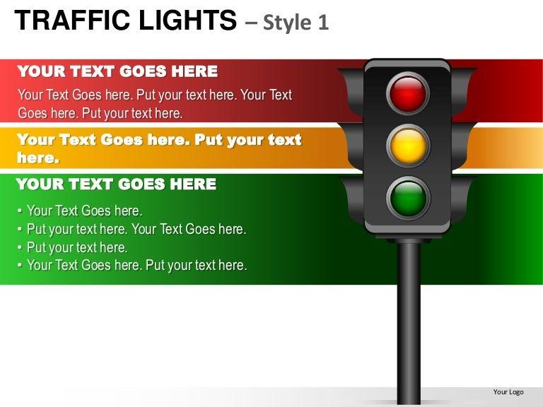 traffic lights style 1 powerpoint presentation templates