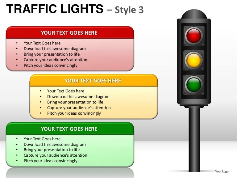 traffic lights style 3 powerpoint presentation templates