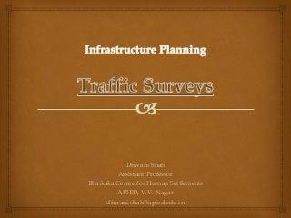 Traffic & Transportation surveys