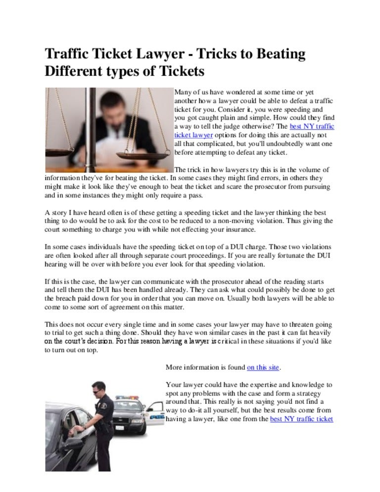 Speeding Ticket Lawyer >> Traffic Ticket Lawyer Tricks To Beating Different Types Of