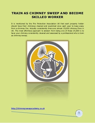 Train as Chimney Sweep and Become Skilled worker