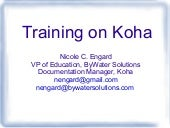 Training on Koha