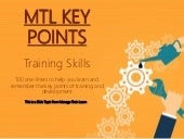 Key Points: Training Skills