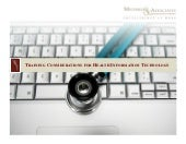 Training Considerations for Health Information Technology