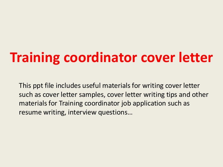 Instructional Technology Coordinator Cover Letter
