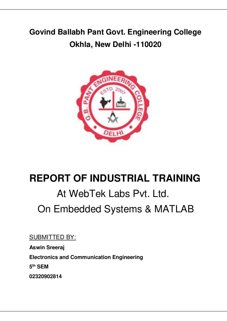 Training Report On Embedded Systems And Matlab Circuitdiagramtointerfaceuartwithpic16f877aprimer