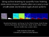 Using Active Learning to Quantify how Training Data Errors Impact Classification Accuracy over Smallholder-Dominated Agricultural Systems