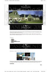 Tramonto Newsletter January 2011