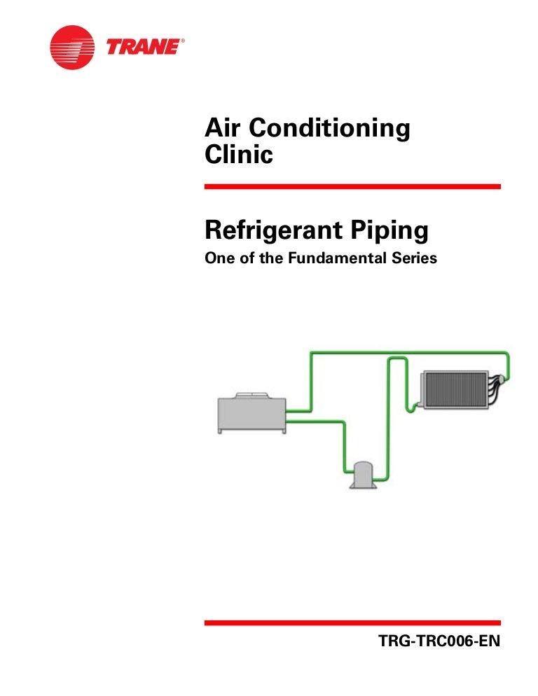 Trane Refrigerant Piping