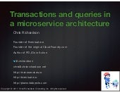 Solving distributed data management problems in a microservice architecture (sfmicroservices)