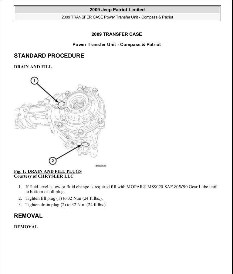 Manual reparacion Jeep Compass - Patriot Limited 2007