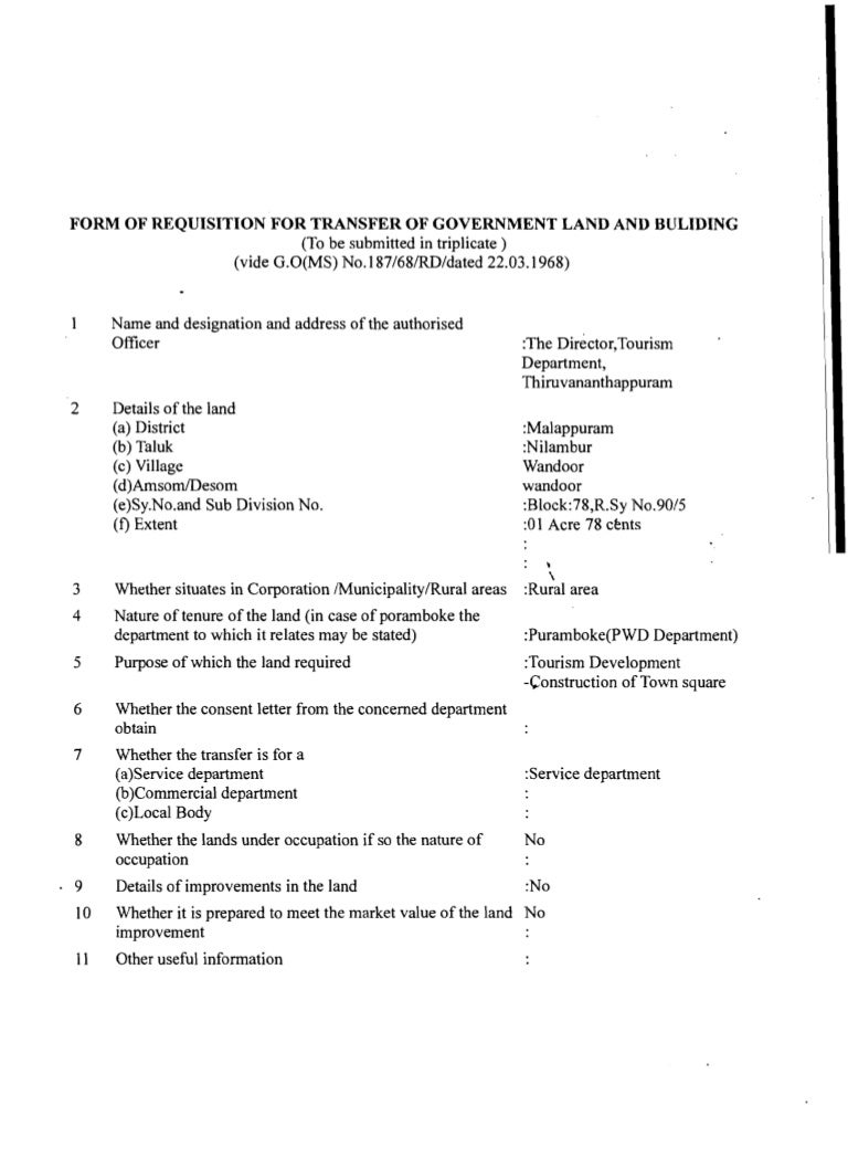 Kerala Land Assignment Rules-1964 - SlideShare
