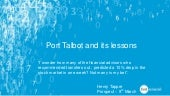Lessons from Port Talbot