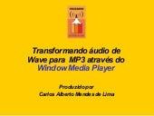 Transformando áUdio De Wave Em Mp3
