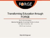 Transforming Education through FORGE