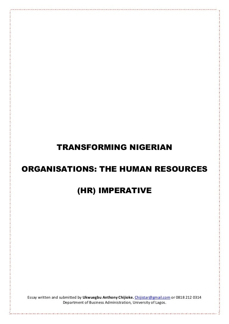 transforming ian organisations