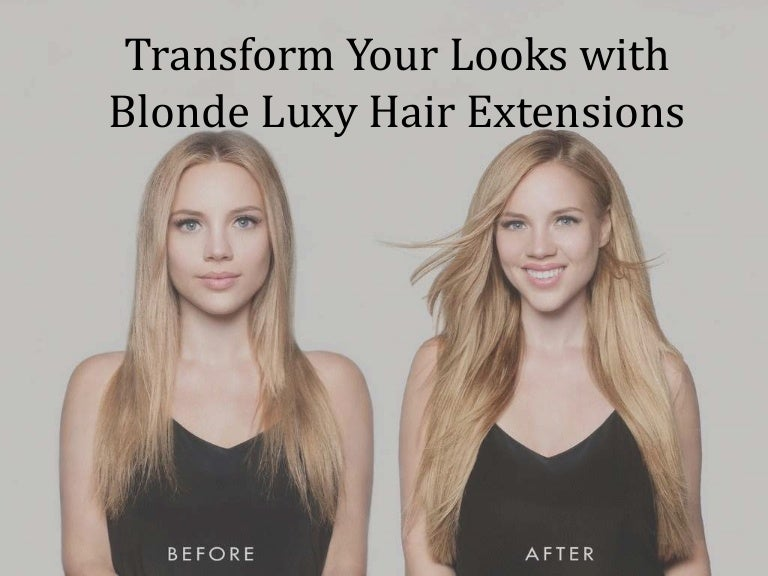 Transform Your Looks With Blonde Luxy Hair Extensions