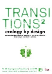 Cahier d'exploration Ecology by design by Transitions²