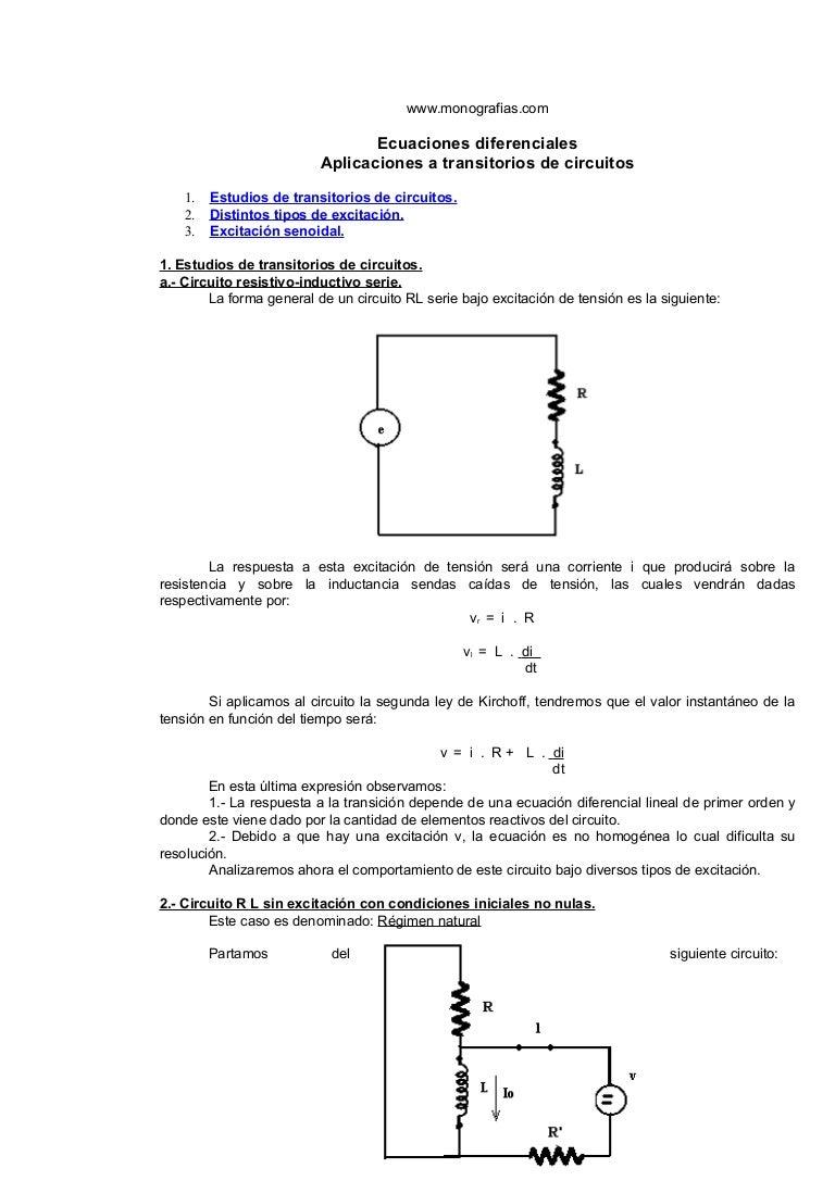 Circuito General : Transitorios de circuitos