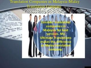 Translation companies in malaysia