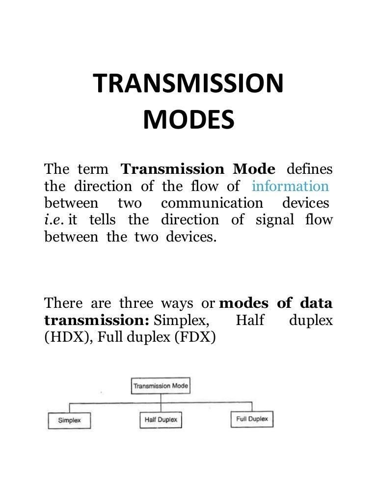 4 modes of transmission-2607