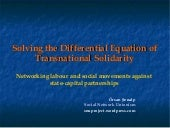 Transnational Solidairty 2009