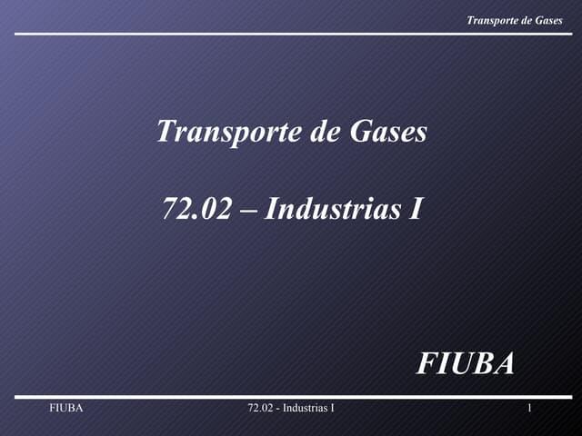 Transporte Gases