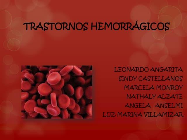 Trastornos Hemorragicos y de coagulacion jefe zoraida