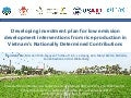 Developing investment plan for low emission development interventions from rice production in Vietnam's Nationally Determined Contributions