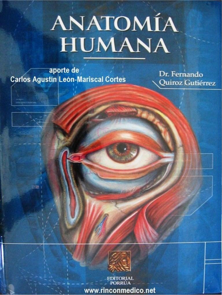 Tratado de anatomia humana quiroz tomo I