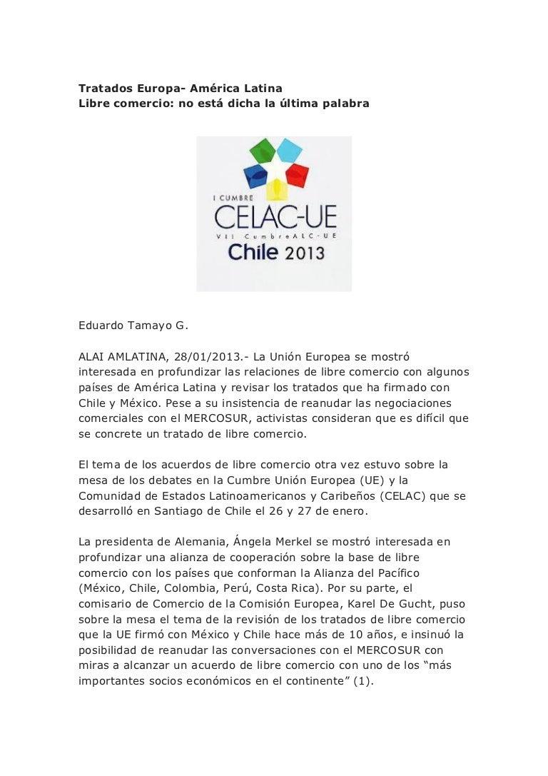 Tratados europa america latina