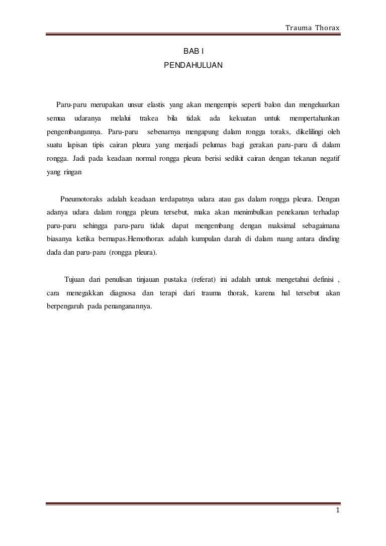 TRAUMA THORAX ADALAH PDF