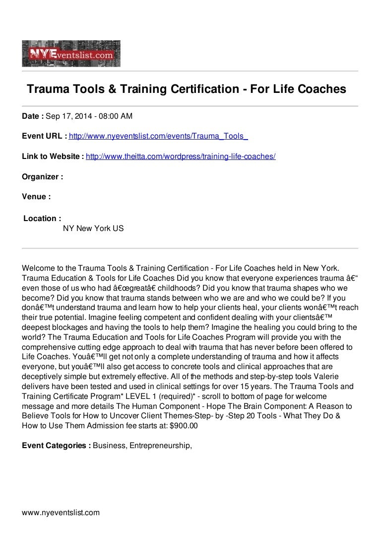 Trauma tools training certification for life coaches xflitez Images