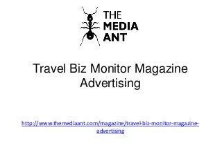 Travel Biz Monitor Magazine Advertising
