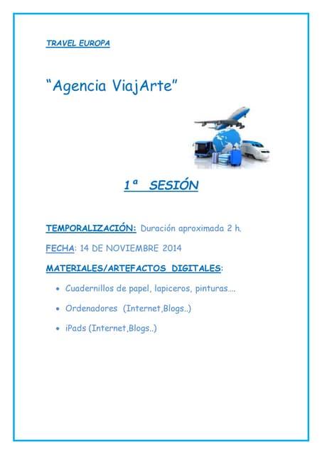 Agencia viajARTE. Travel europa 1ª sesión