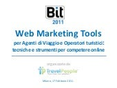 Travel People Workshop in BIT20011 : Web Marketing Tools x Travel Agents