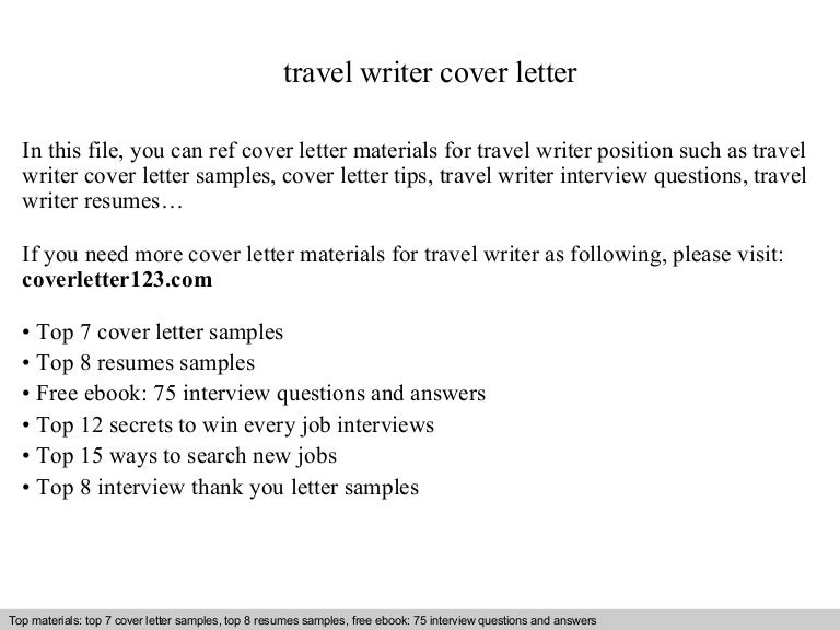 Travel Writer Cover Letter