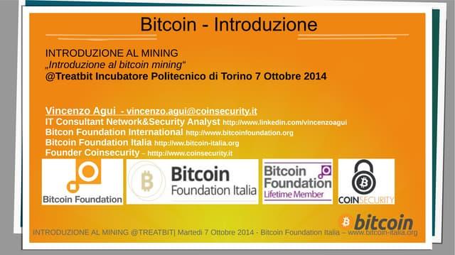 Presentazione del mining Bitcoin