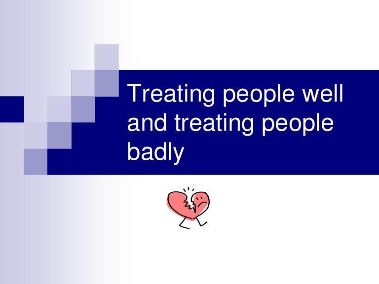 Badly treating people logo