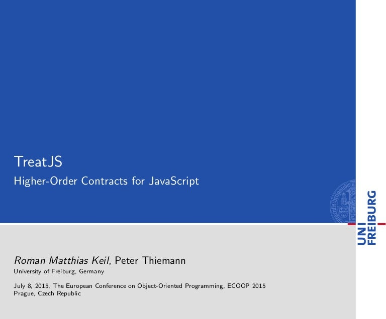 TreatJS: Higher-Order Contracts for JavaScripts