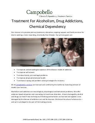 Treatment for alcoholism campobello