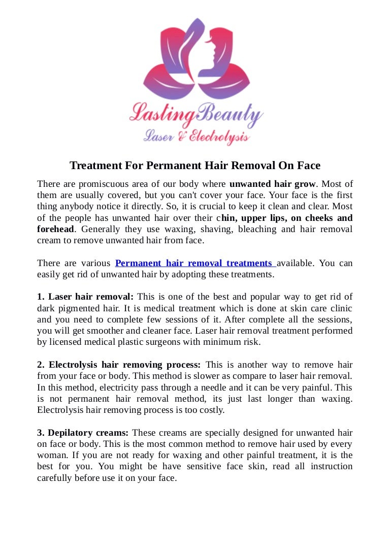 Laser Therapy Kitchener- Treatment For Permanent Hair Removal On Face
