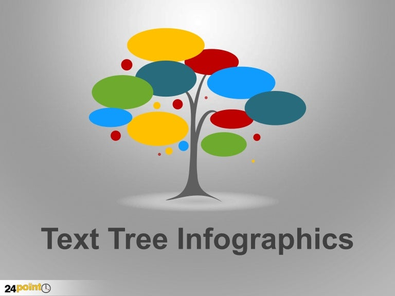 text tree infographics powerpoint. Black Bedroom Furniture Sets. Home Design Ideas