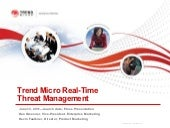 Trend micro real time threat management press presentation