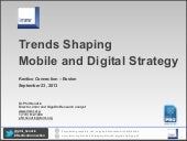 Trends Shaping Mobile and Digital Strategy