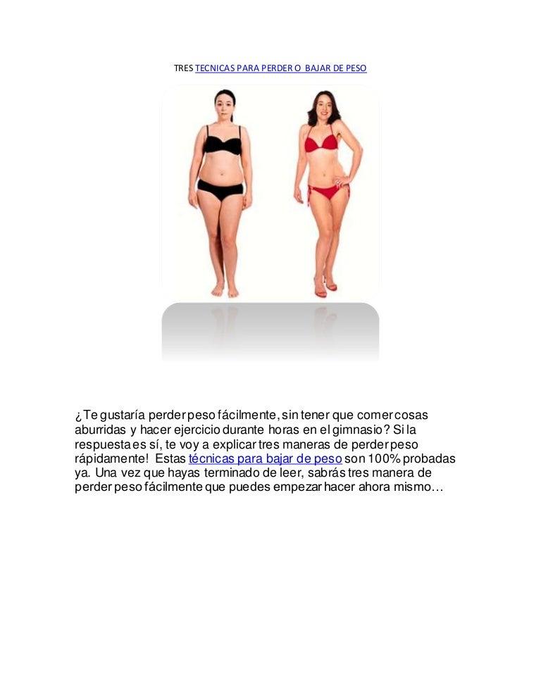 Tecnicas neurolinguisticas para bajar de peso