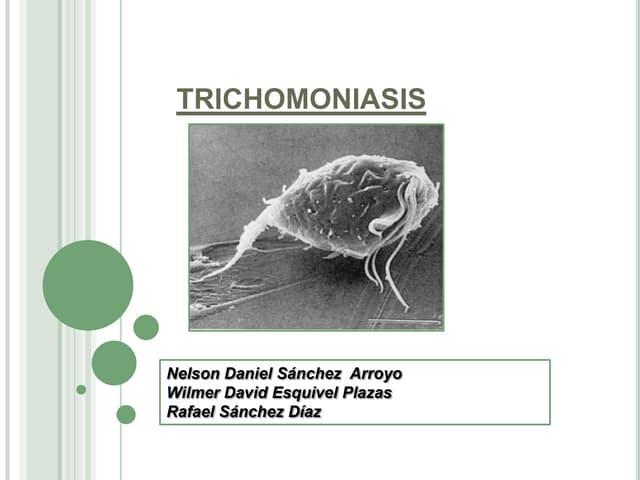 Trichomonas fertőzés hímtől hímig milyen férgek nőnek tavasszal