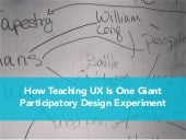 How Teaching UX is One Giant Participatory Design Experiment