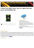 Trident case aegis series case for apple i pad mini, green (ag ipadmini-tg)