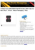 Trident case ams new-i pad-pk kraken ams case for new ipad - 1 pack - retail packaging - pink